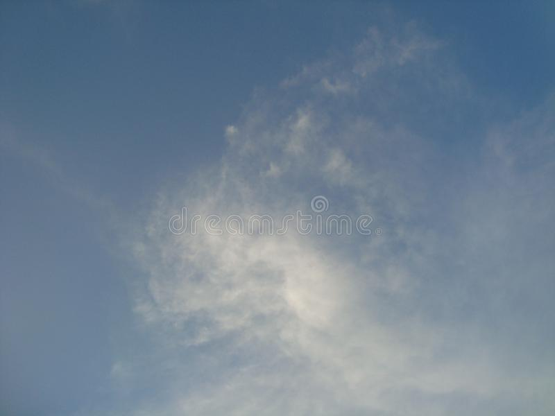 Beautiful sky, bright sky, white clouds royalty free stock image