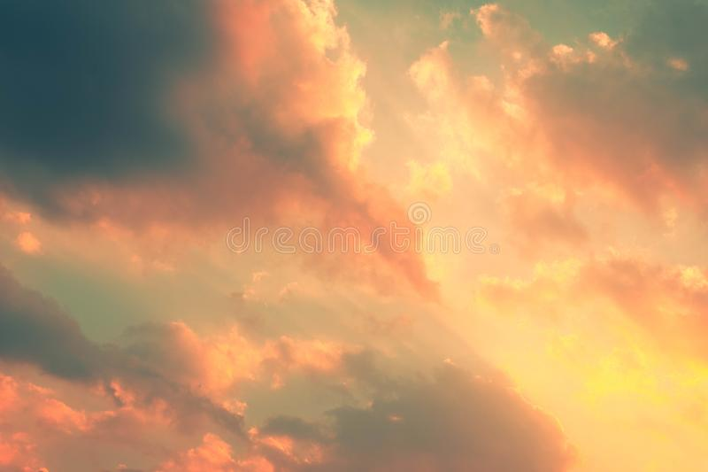 Beautiful sky with cloud and empty area for text. concept Nature for presentation background Beautiful colorful sky with sunlight. Environment and beauty royalty free stock photo