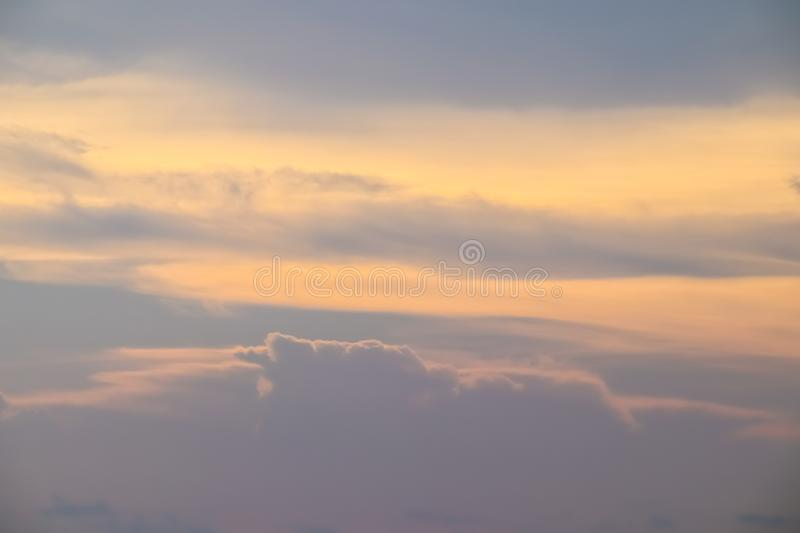 Beautiful sky with cloud before sunset stock images