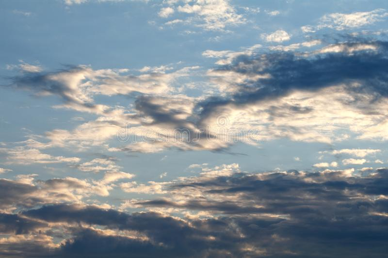 Beautiful sky with clouds. Beautiful blue sky with clouds stock photos