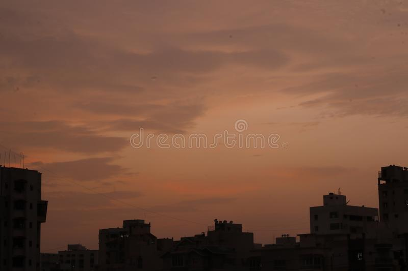 A beautiful sky and clouds colours stock images