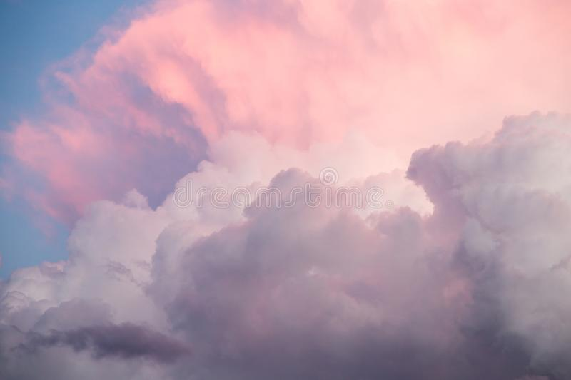 Beautiful sky with clouds in the evening stock photography