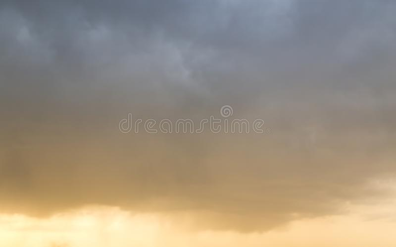 Beautiful sky with clouds in the evening royalty free stock image