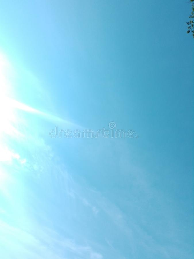 Beautiful sky clouds floating in the sky. Nature royalty free stock photography