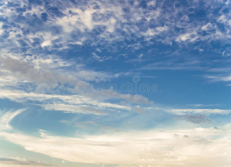 Beautiful sky and clouds. Summer good weather royalty free stock photo