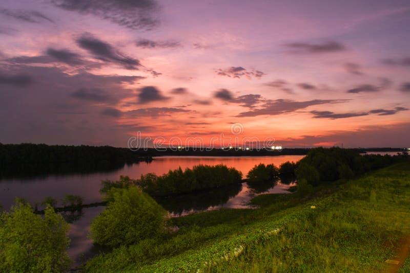 Beautiful sky. DKI Jakarta, Indonesia stock image