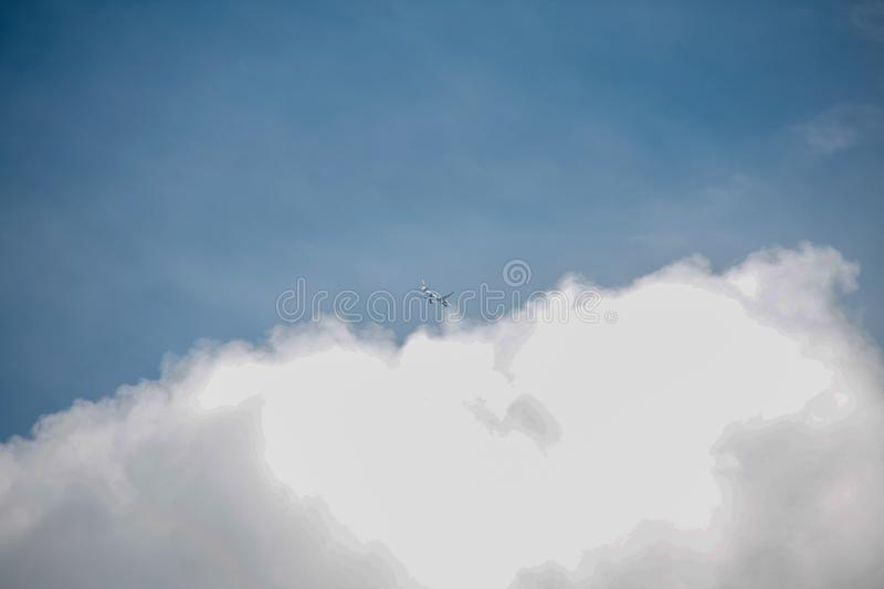 Beautiful sky full of clouds. Weekend in Russian countryside: Beautiful sky full of clouds royalty free stock images