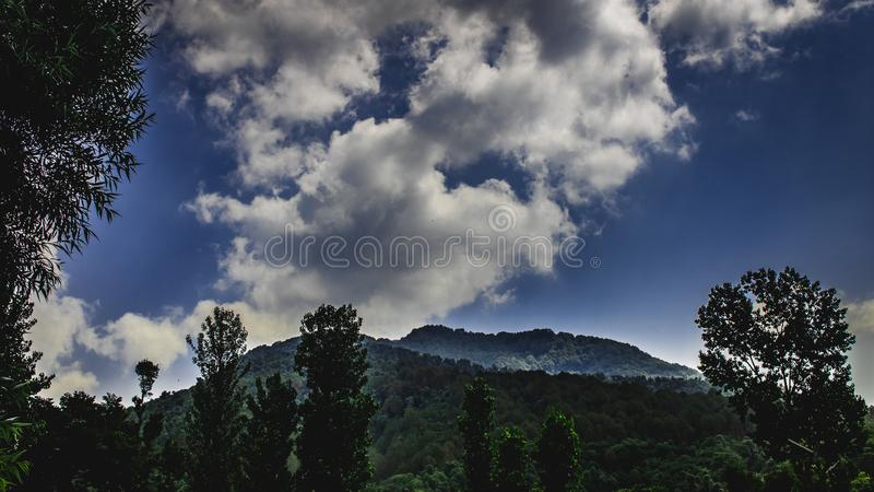 Beautiful sky of himachal pradesh royalty free stock photos