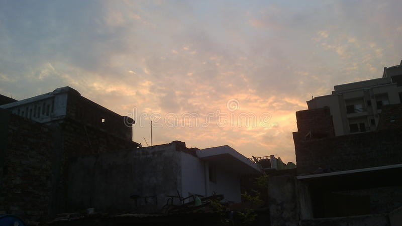 Beautiful sky in india royalty free stock photography