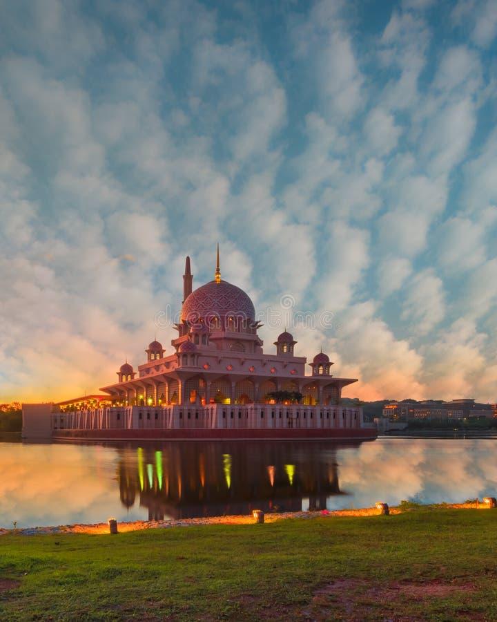 Mosque In Kuala Lumpur City On Morning Sunrise Stock Photo