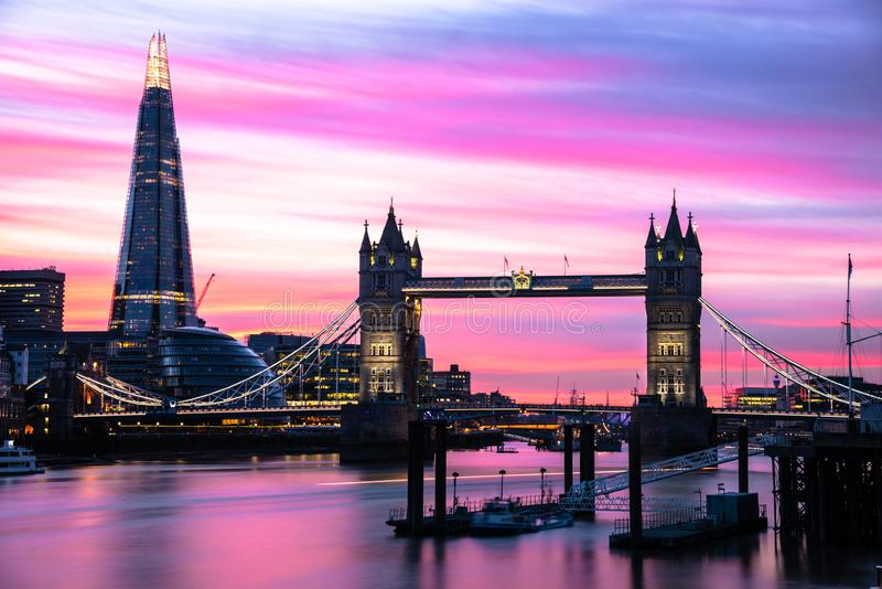 Beautiful Sky over London at Duk royalty free stock images