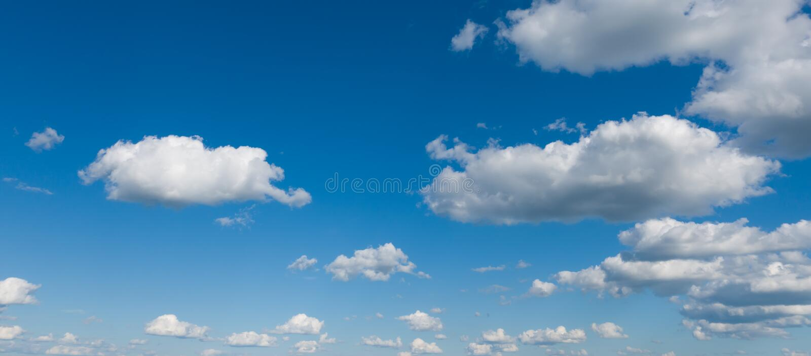 Beautiful sky panorama, blue sky and white clouds. stock images
