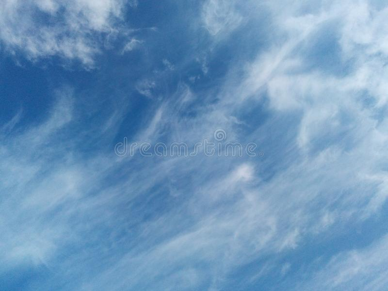 Beautiful sky Sky Blue White cloud royalty free stock photography