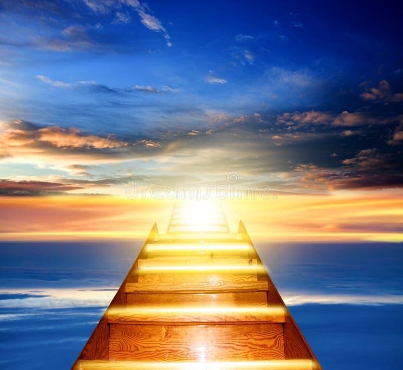 Beautiful sky . Sunrise . Light from sky stock photography