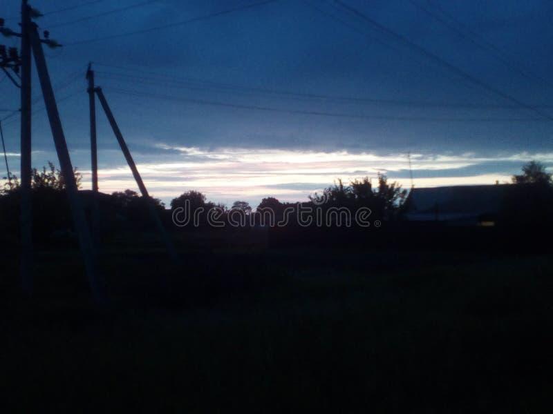 Beautiful sky sunset royalty free stock photos
