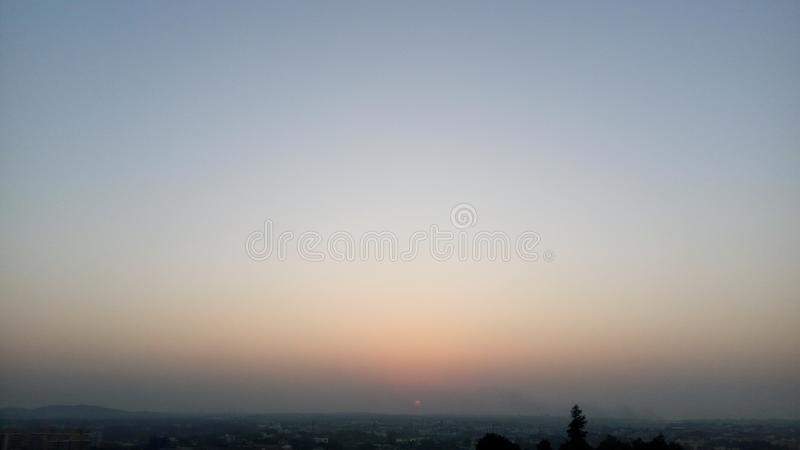 The beautiful sky with tricolor. royalty free stock photo