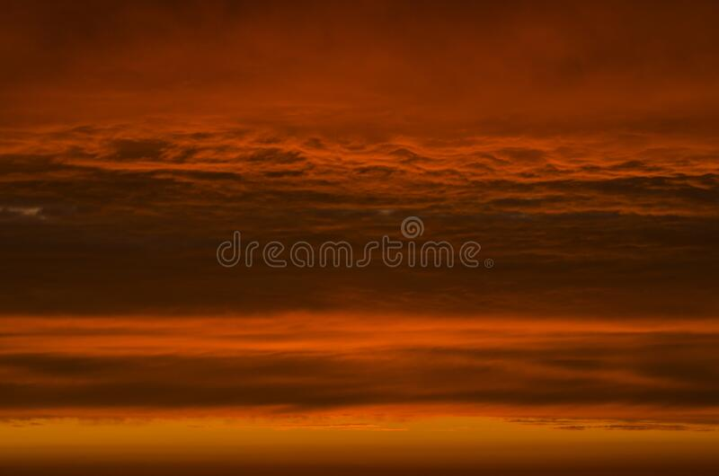 Beautiful sky in vibrant sunset colors.  royalty free stock images