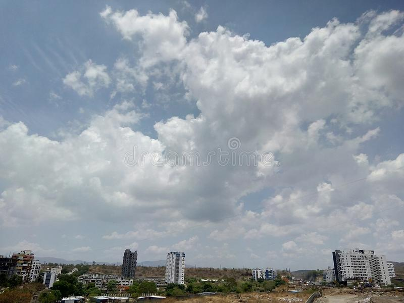 Beautiful sky view in Kothrud, Pune, Maharashtra. India royalty free stock photo