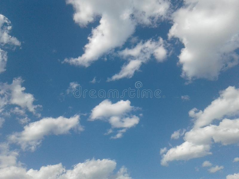 Beautiful sky. With white clouds royalty free stock images