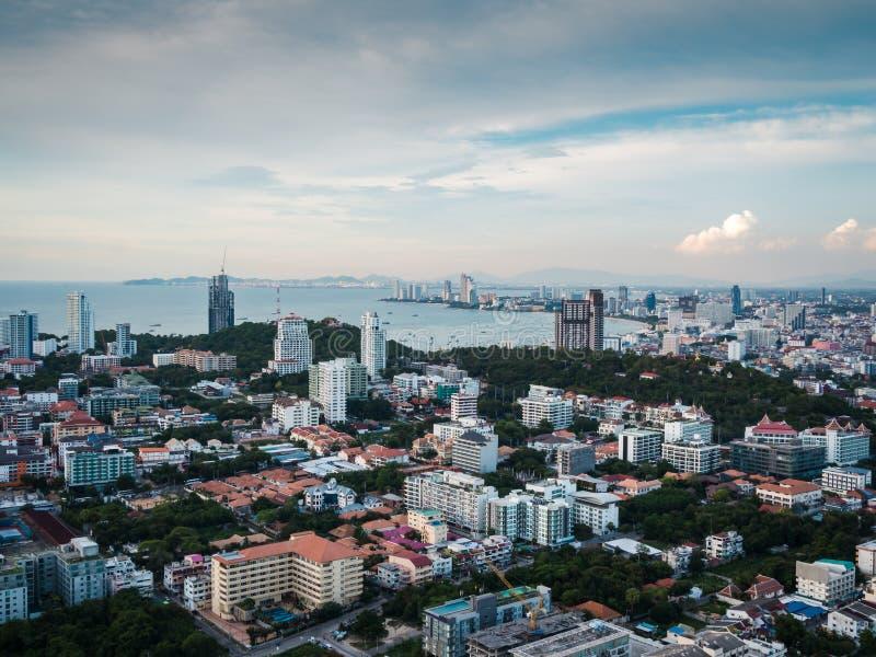 Beautiful skyline of Pattaya, Thailand royalty free stock photography