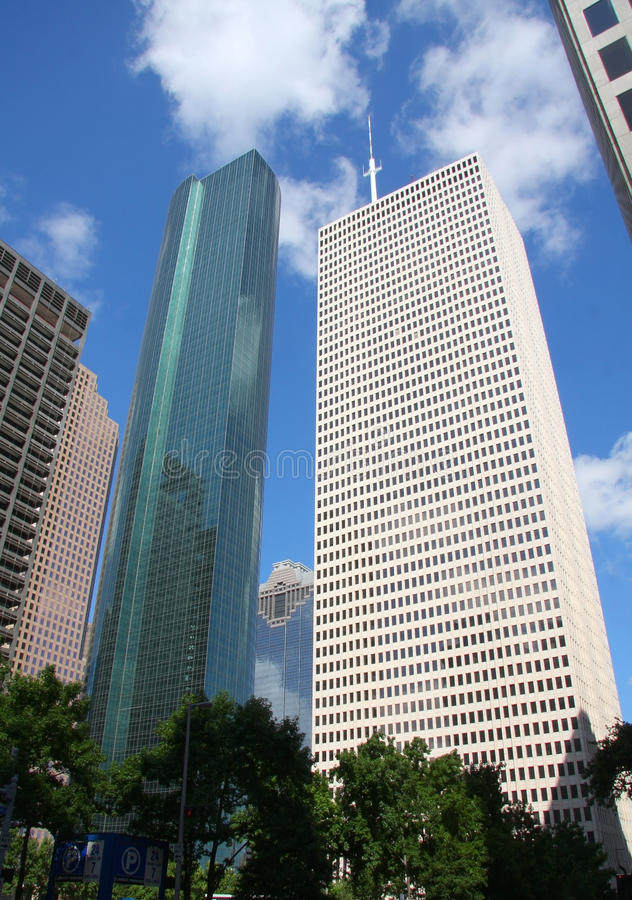 Beautiful skyscrapers of Houston stock images