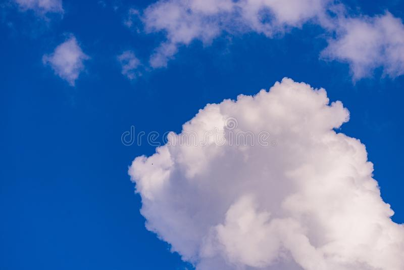 Beautiful skyview with clouds. Natural sky background, air, beauty, blue, cloudscape, cloudy, color, day, heaven, high, light, nature, weather, white, clear royalty free stock images