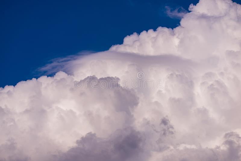 Beautiful skyview with clouds. Natural sky background, air, beauty, blue, cloudscape, cloudy, color, day, heaven, high, light, nature, weather, white, clear stock photography
