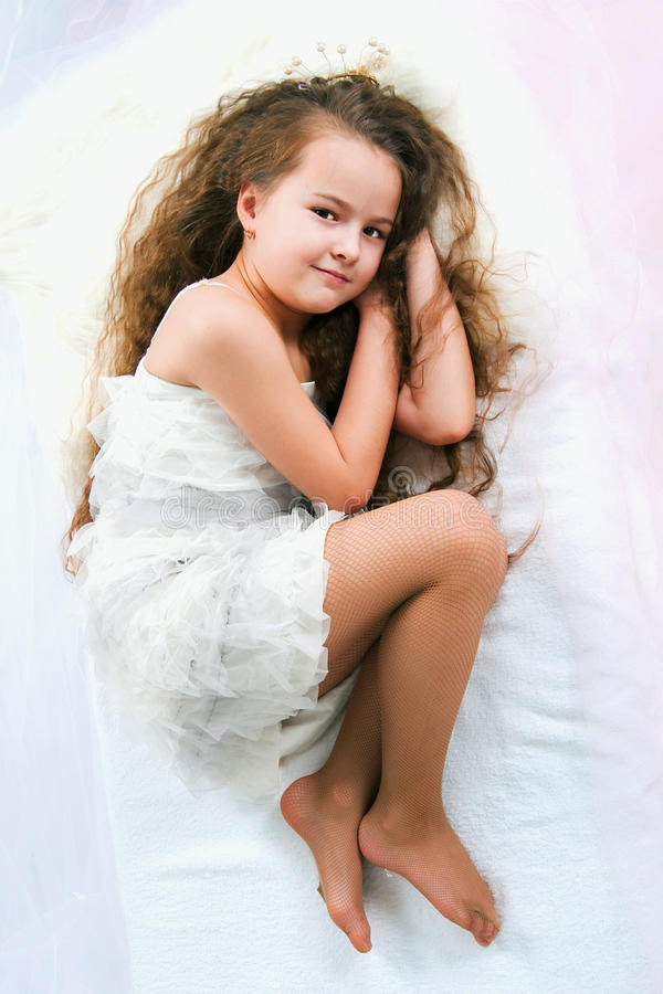 Download Beautiful sleeping girl stock photo. Image of poses, child - 31225488