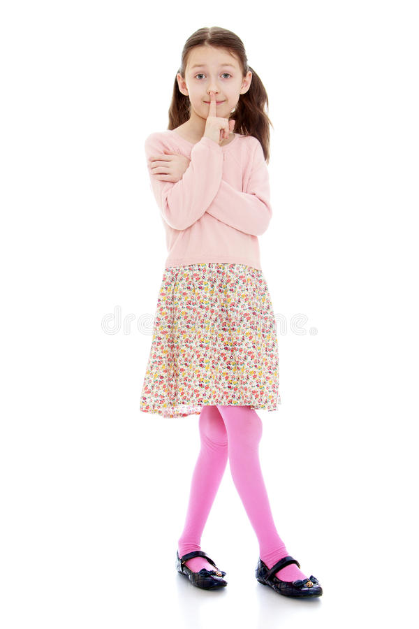 Beautiful slender girl stock photography