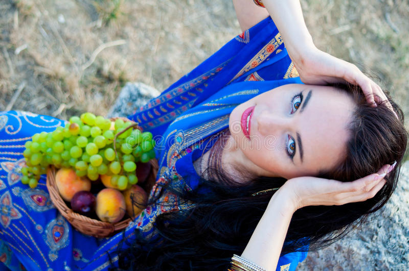 Download Beautiful Slim Lady, Professional Bellydancer Stock Photo - Image of fruits, asian: 39507400