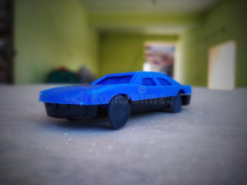 Beautiful Small Blue Color Toy Car. stock photo