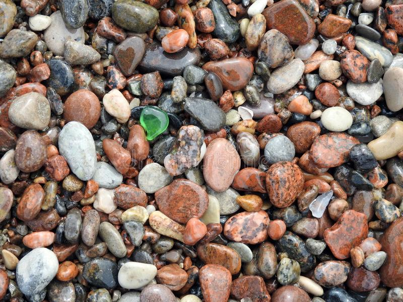Beautiful small stones and glass, Lithuania royalty free stock images