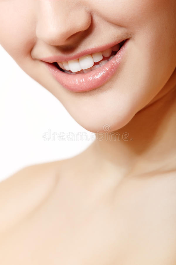 Download Beautiful Smile Of Young Fresh Woman With Great Healthy White Te Stock Image - Image: 34304301
