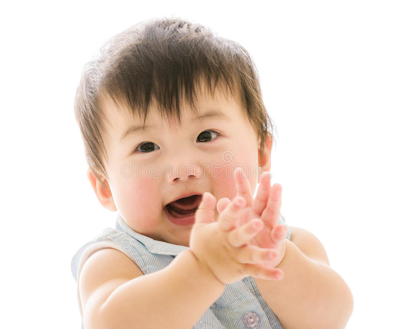 Beautiful smiling asian baby royalty free stock images