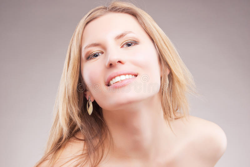 Beautiful smiling blond woman royalty free stock photos