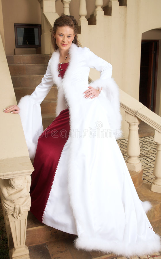 Beautiful smiling bride stock photo