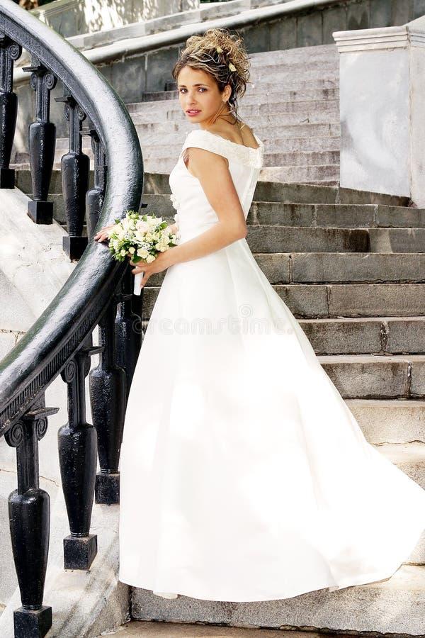 Beautiful smiling bride stock image
