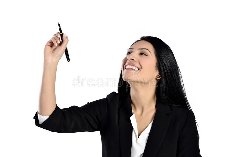 Beautiful smiling business woman stock image