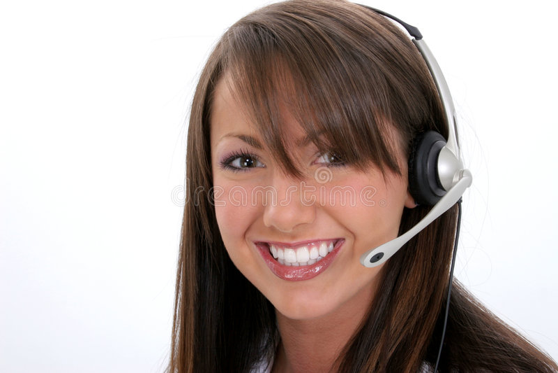 Beautiful Smiling Customer Service Representative stock photo