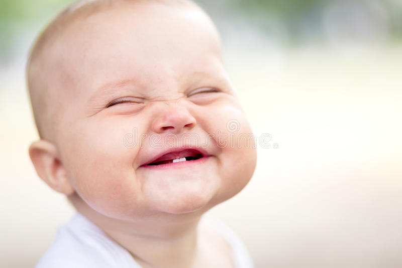 Download Beautiful Smiling Cute Baby Stock Photo - Image of emotion, laughing: 27203160