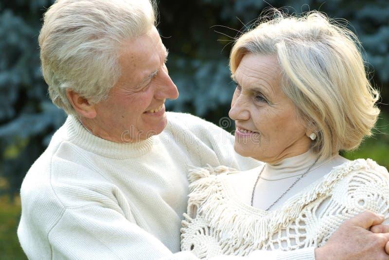 Beautiful smiling elderly couple stock image