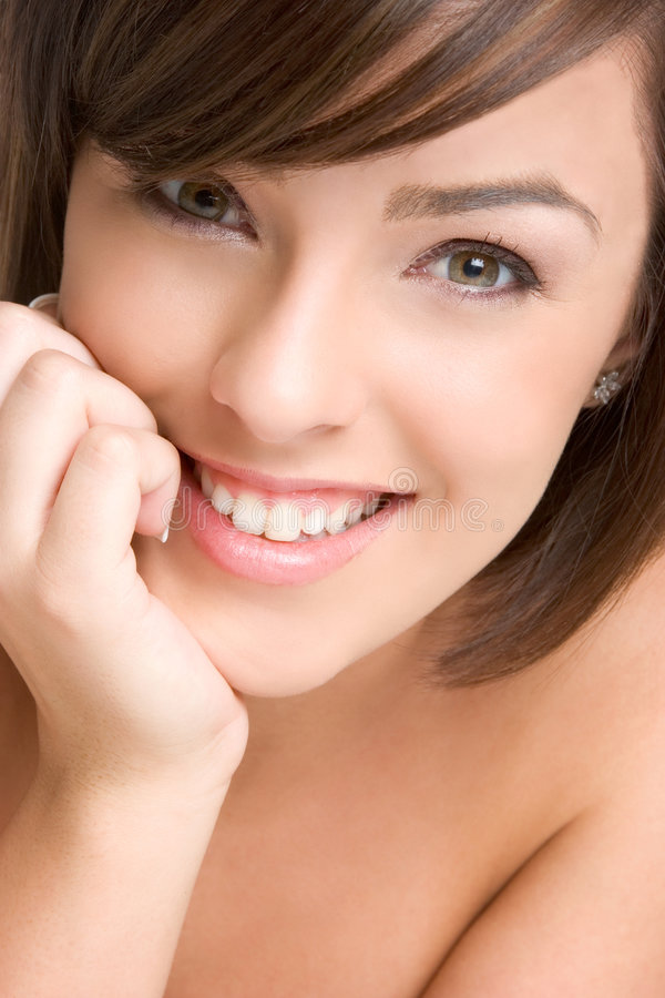Beautiful Smiling Face stock photos