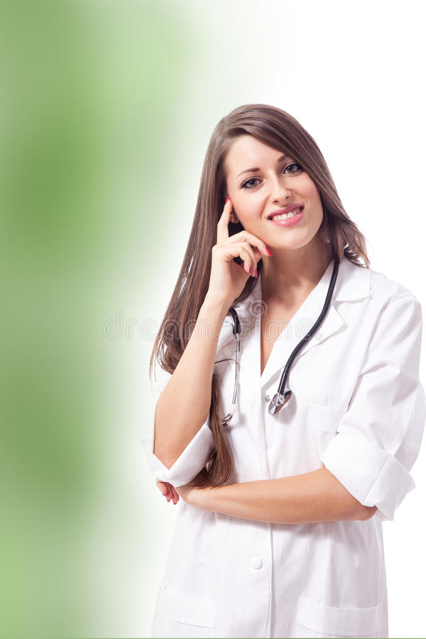 Beautiful smiling female doctor royalty free stock photos