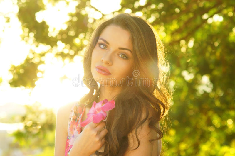 Beautiful Smiling Girl Royalty Free Stock Photography