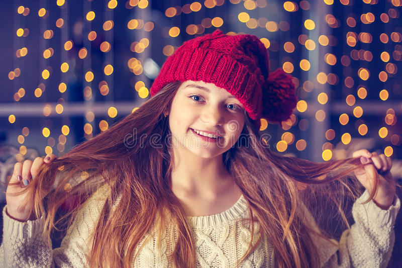 Beautiful smiling girl. royalty free stock photography