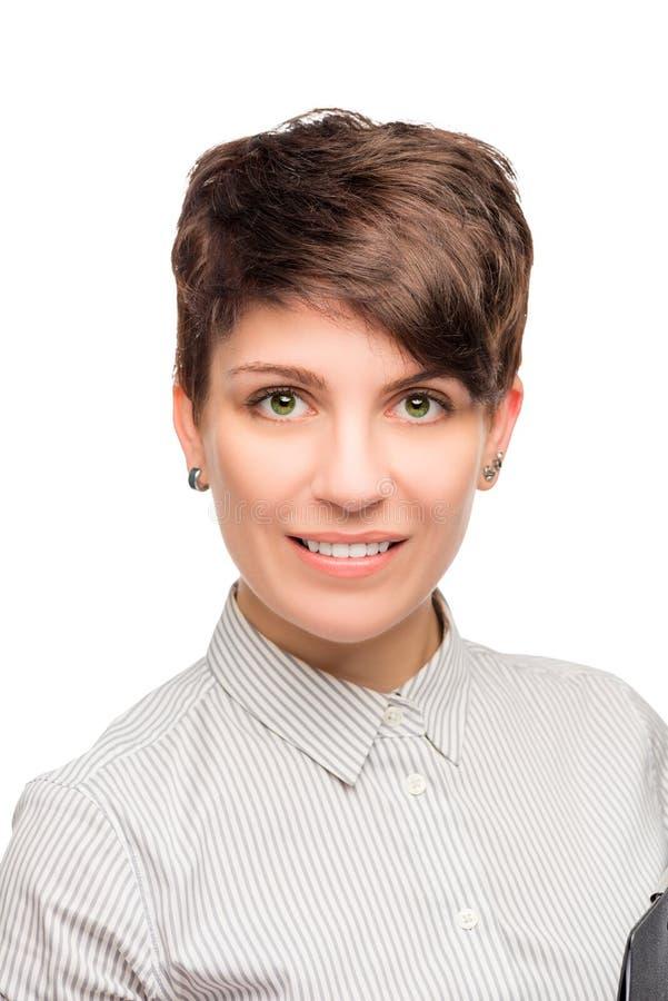 Beautiful smiling successful business woman stock photo