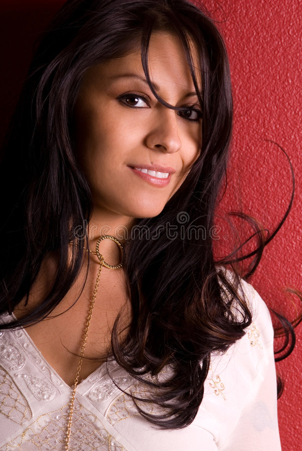 Beautiful smiling woman. royalty free stock image
