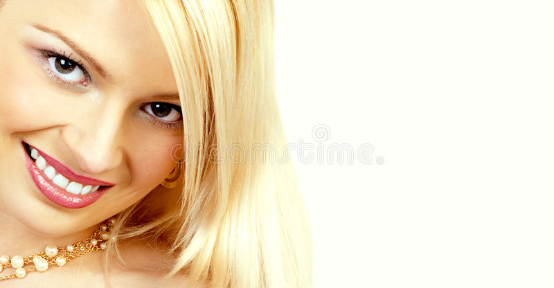 BEAUTIFUL SMILING WOMAN stock photo