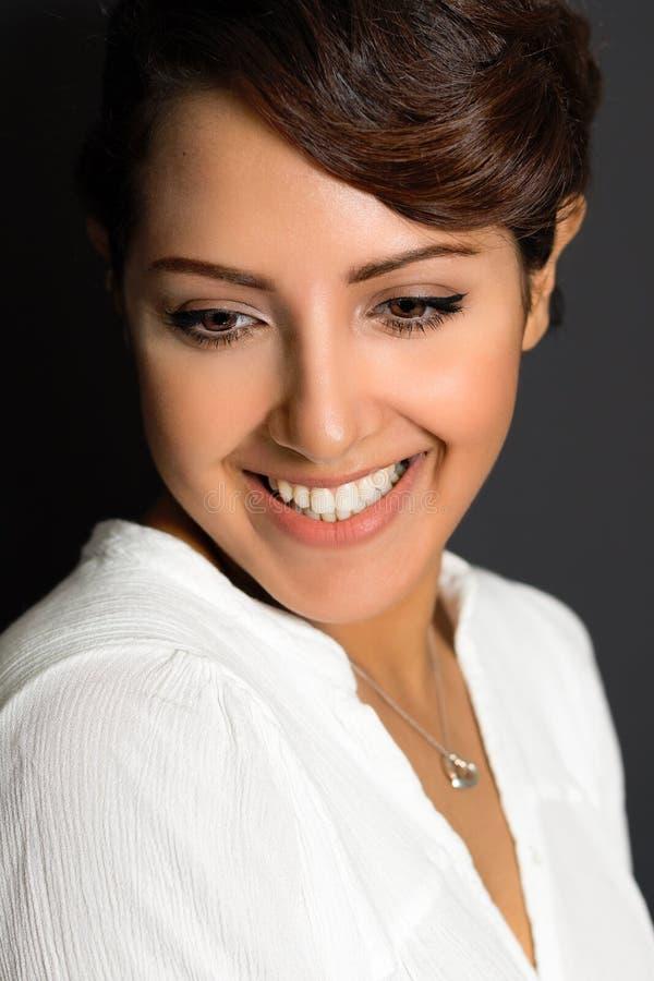Beautiful Smiling Woman. Beautiful smiling middle eastern woman stock photo