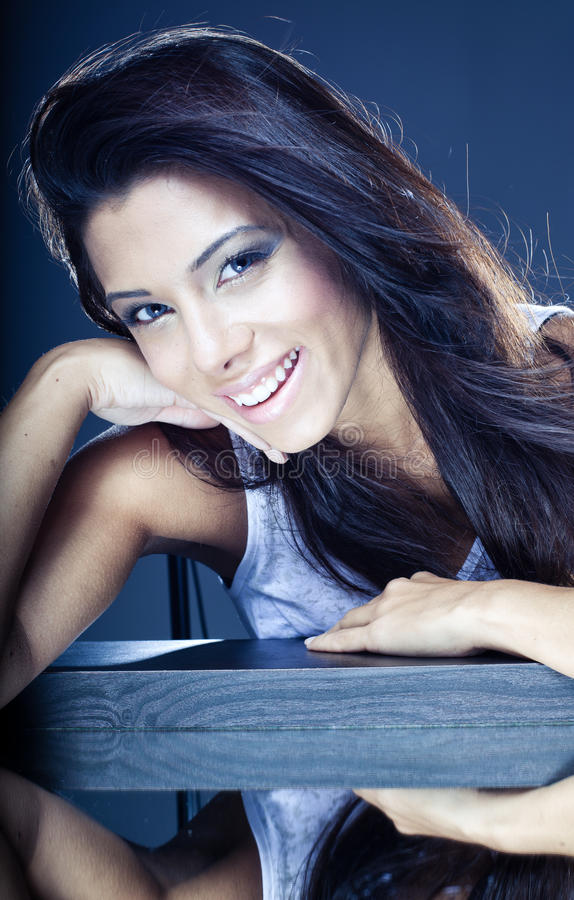 Download Beautiful Smiling Young Brunette Stock Image - Image: 25643885